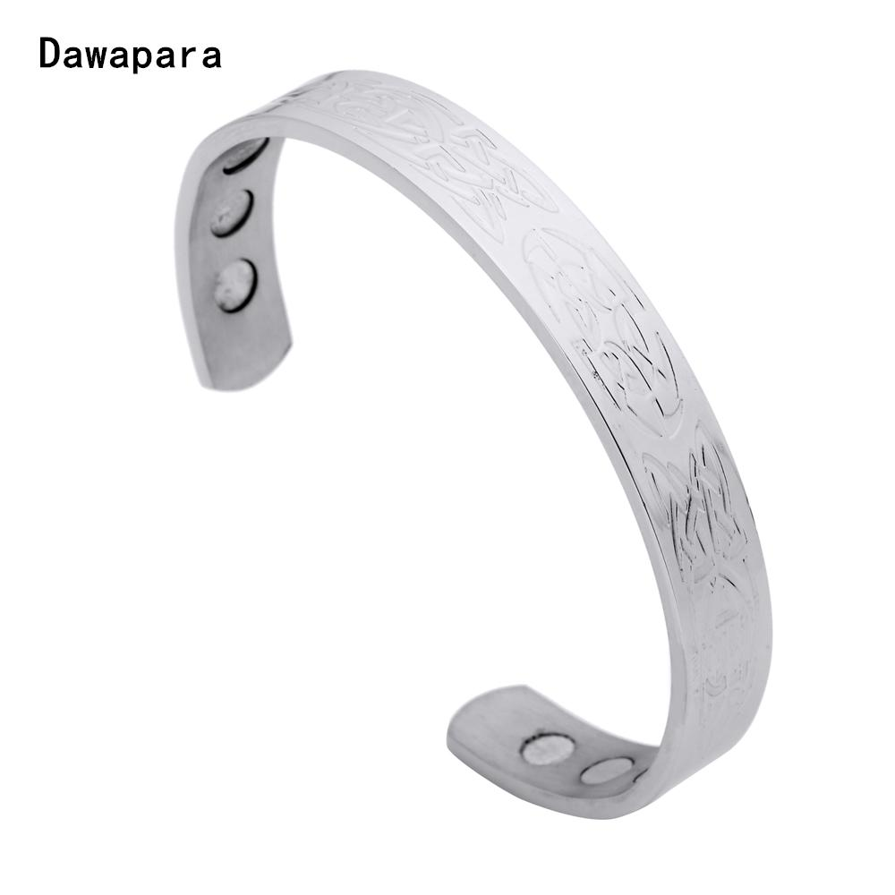 17636e1b1a246 2019 Dawapara Irish Art Cuff Stainless Steel Jewelry Men S Bangles ...
