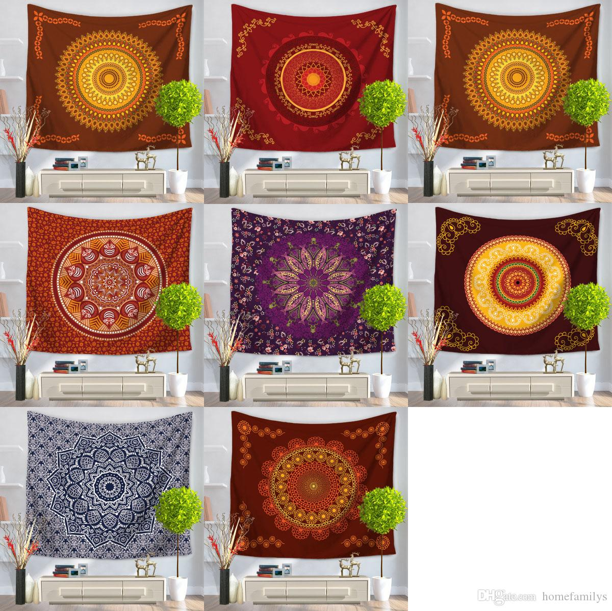 Mandala Tapestry Fashion Wall Hanging Carpet Bohemian Door Curtain Household Tapestries Beach Towel Blanket 150130CM Modern Art