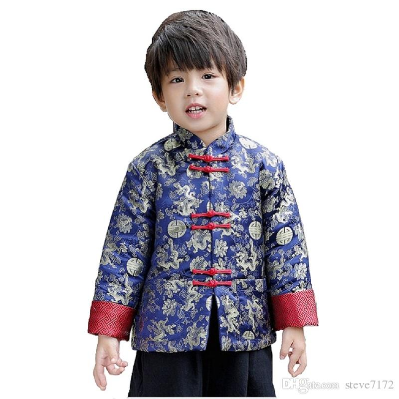 16942def506f 2019 Chinese Spring Festival Children Coat Boys Clothes Dragon Party Costumes  Baby Boys Jackets Kids Outfits Outerwear China Dress Garment From  Steve7172