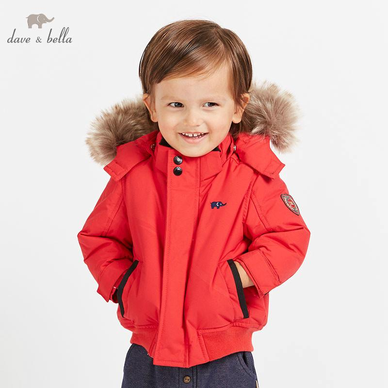 3e32dc8df6ac DB8644 Dave Bella Baby Boys Winter Down Jacket Children 90% White ...