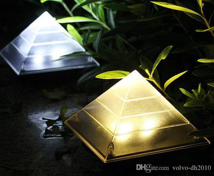 Pelouse Pyramid Capteur Escalier Lampe Llfa Enterré Lumière Étanche Ip65 Sol Décoration Paysage Extérieure Led Solaire Nuit Cour Jardin sBthQdCoxr