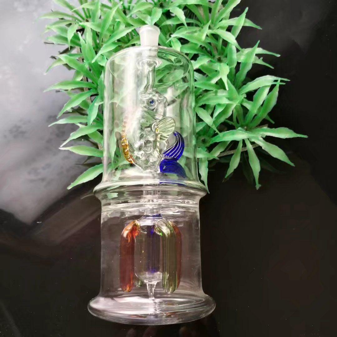 O peixe sob os quatro garra placa de vidro mudo narguilé, bongos De Vidro Por Atacado de Óleo de Água Tubos de Óleo de Tubulação de Vidro Rigs Fumar, frete Grátis