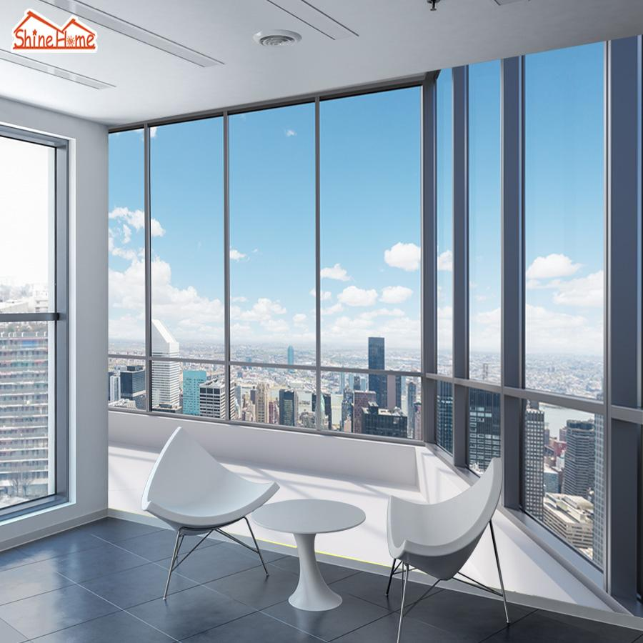 wallpaper for office wall. Shinehome 3d Large Custom Office Window Building View Wallpapers 3 D Wall Paper Wallpaper Mural Roll For Living Room Home Decor And Screensavers