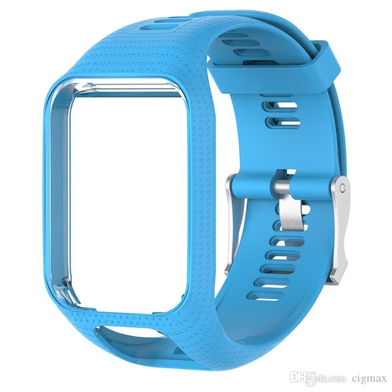 0ee0cf6caa32 Compre Correa De La Muñeca Del Reemplazo Del Silicón De 20m M Para TomTom  Runner 2 3 Spark 3 GPS Watch Crust Pro A  5.78 Del Cigmax