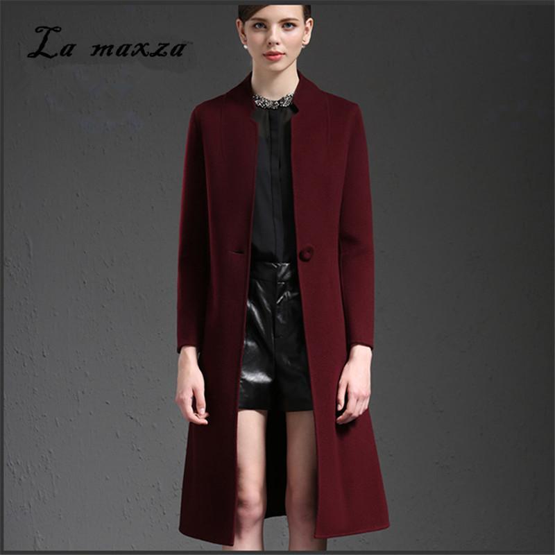 58e1d8ce549a5 Acheter 2018 Automne Femmes Laine Long Manteau Mince OL Pardessus Élégant  Femmes Nouveau Manteau Plus La Taille De  150.11 Du Vikey18   DHgate.Com