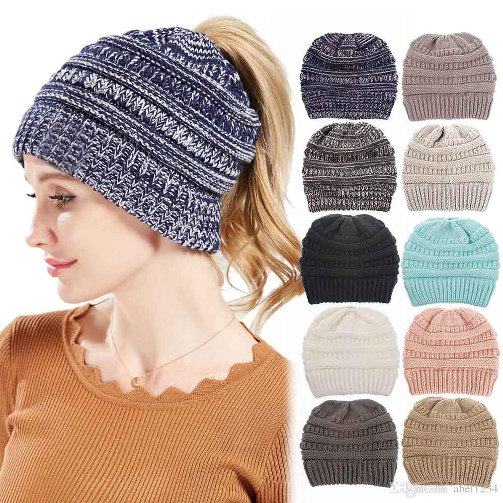 3025d558e Winter Knit Hats Warm Hoods Skulls Hooded Hats Hoods Unisex Trendy Hats  Caps Fashion Leisure Beanie Hair Accessories