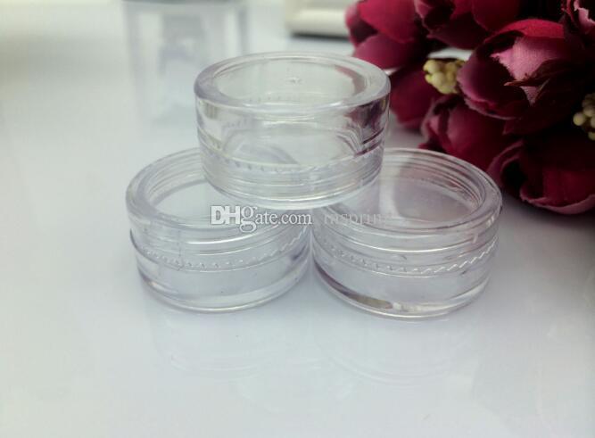 Capacidade cosmética 5g da garrafa do recipiente do creme de cara da composição da sombra do potenciômetro do frasco