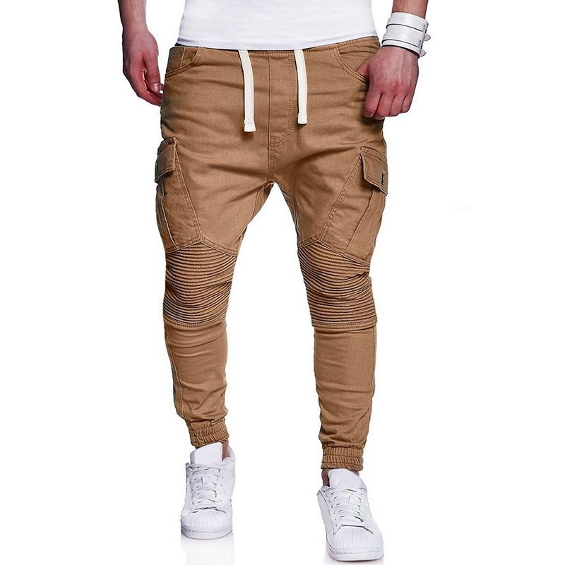 e45ae96e316d4 NIBESSER Men Hip Hop Harem Pants Joggers Pants 2018 Male Pleated ...