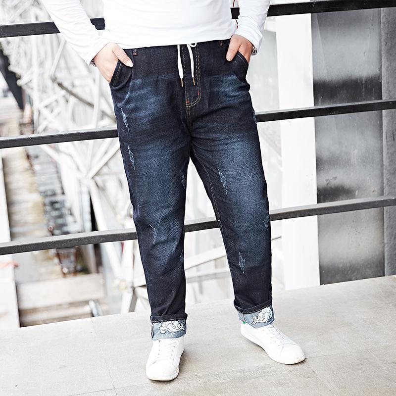 2019 Men Jeans Runway Slim Racer Biker Jeans Fashion Hiphop Skinny For Men  2018 Large Big Size Tall 155KG Wear M 7XL 8XL From Mujing,  119.41    DHgate.Com 24d1d429b7