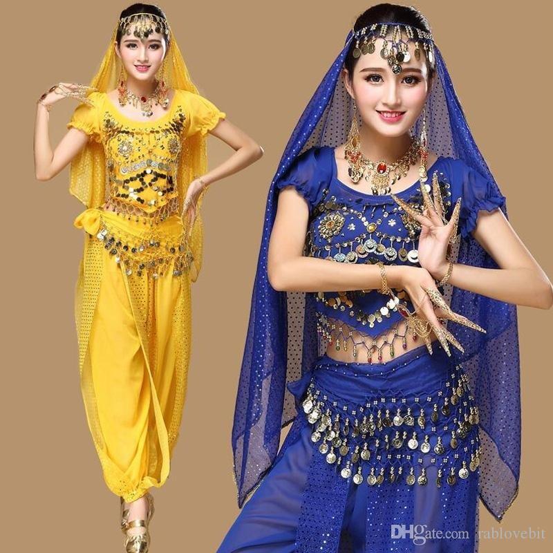 Dress Femmes Pcs Indien Ventre Porter Dancing Nouveau Costume De Du Bollywood Bellydance Danse 3 Ensemble Belly Ensembles Stage c5jA3R4LqS