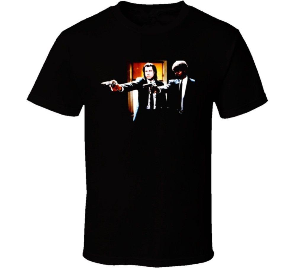 Interessanti foto Manica corta da uomo Estate O-Neck Pulp Fiction Guns Out T Sh Tee Shirt