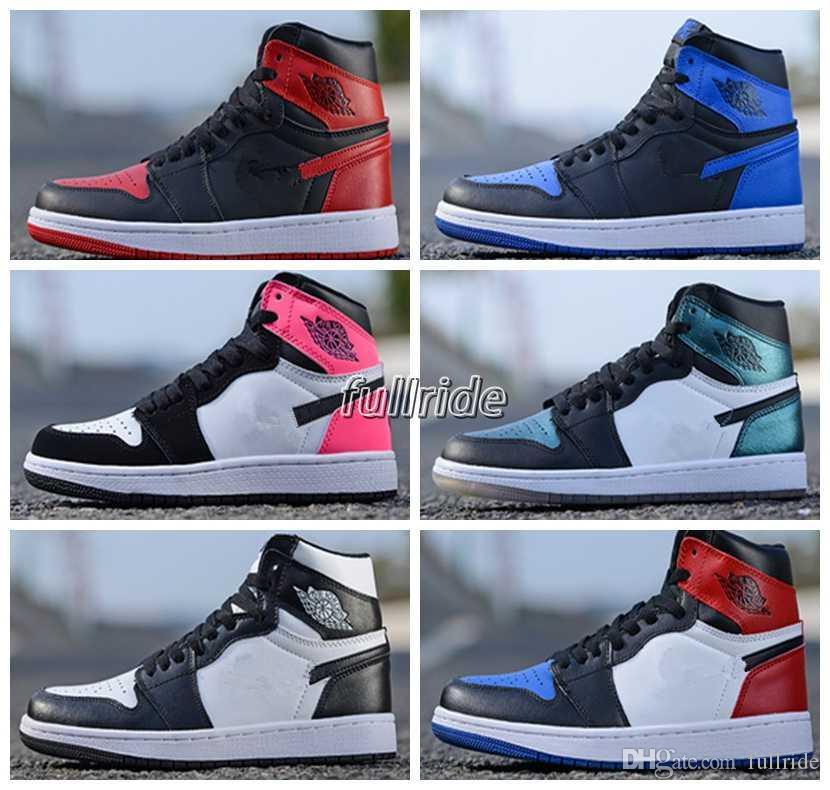 2018 Og Top 1 Men Black Gold Basketball Shoes 1s Sneakers Homage To
