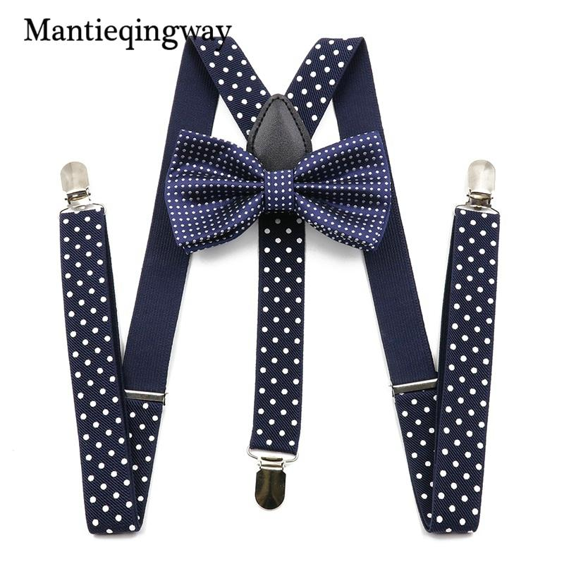 e29104f8a Mantieqingway Unisex Suspenders Bow Ties For Men Women Polyester Wedding Polka  Dots Printed Bowtie Suspender Set Elastic Straps Boys Suspenders Thigh High  ...