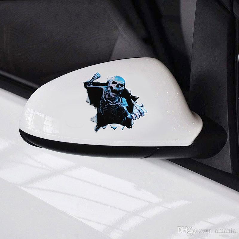 سيارة ملصقا مضحك سيارة 3d الجمجمة جذع أجراس الإثارة الخلفية نافذة ملصق مائي للماء هيكل سيارة التصميم