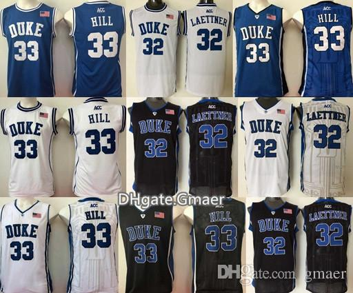 629313555ce ... good 5 tyus jones 11 bobby hurley duke blue devils college basketball  jerseys black blue white