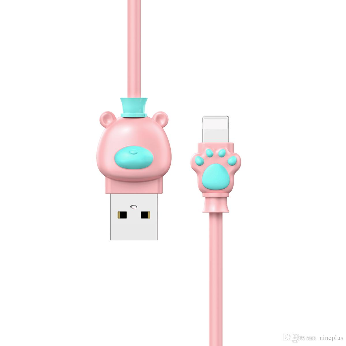 Baseus Cute Bear Usb Cable For Iphone X 8 7 6 6s Plus 5 5s Mobile Flash Series Type C 20 1m Phone Fast Data Sync Charging Charger