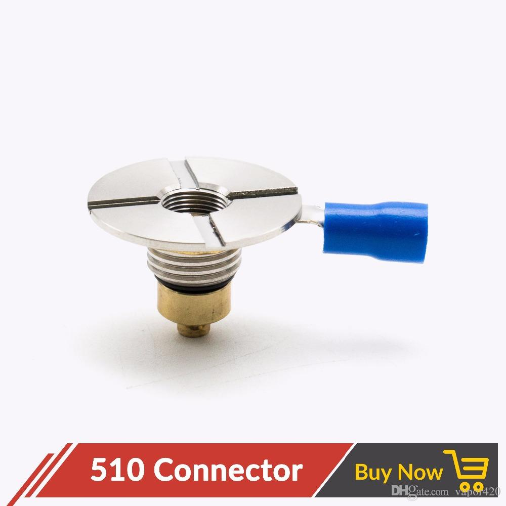 510 Connector Adapter Spring Loaded 510 Thread Brass Pin for Box Mechanical  Mod E Cigarettes DIY Self-Adjusting