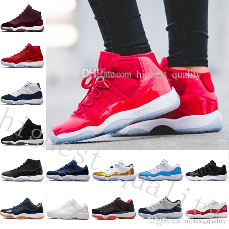 huge discount 1302b aa407 Acquista Mens Donna 11s 72 10 Concord Bred Legend Gamma Blue Space 11 XI  Nero Velluto Heiress Low Barons Scarpe Da Basket Sport Sneakers US 5.5 13 A   91.75 ...
