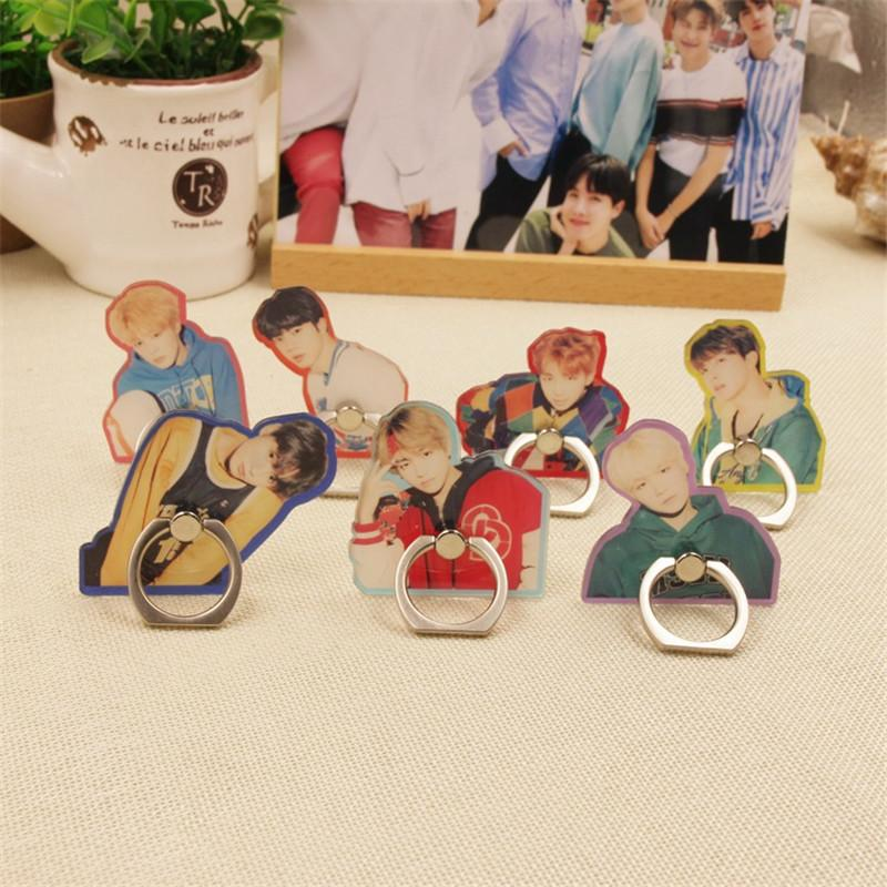 Kpop BTS Bangtan Boys Album Real People V Suga Jungkook Phone Rings Finger  Stand Holder Rings Case ZHK