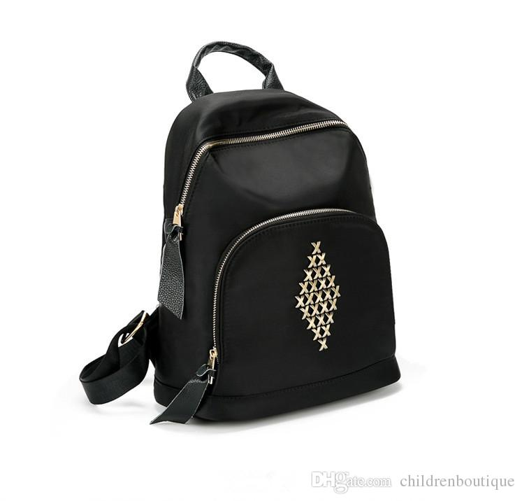 28e06f050c Baby Girls Backpack Fashion X Pattern Pu Leather Backpack Children School  Casual Bag For Teenage Girls Small Backpacks Black Color Backpacks For  Children ...