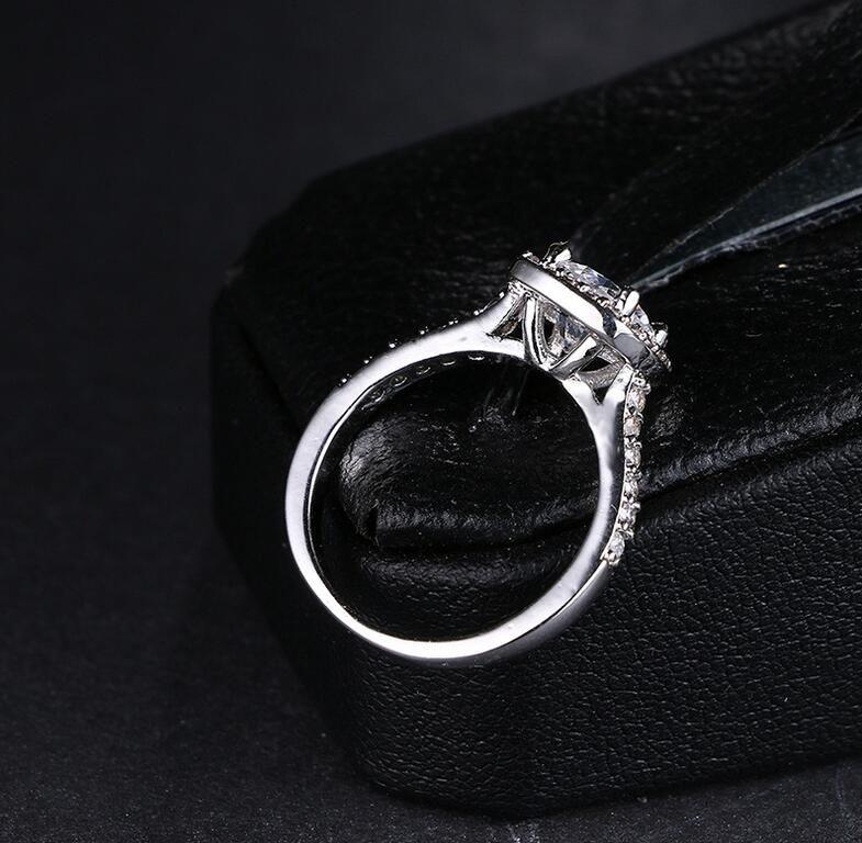 Size 5-11 Brand Desgin Choucong Fsshion Jewrlry 925 Sterling Silver Round Cut 5A Cubic Zirconia CZ Diamond Women Wedding Band Pave Ring Gift