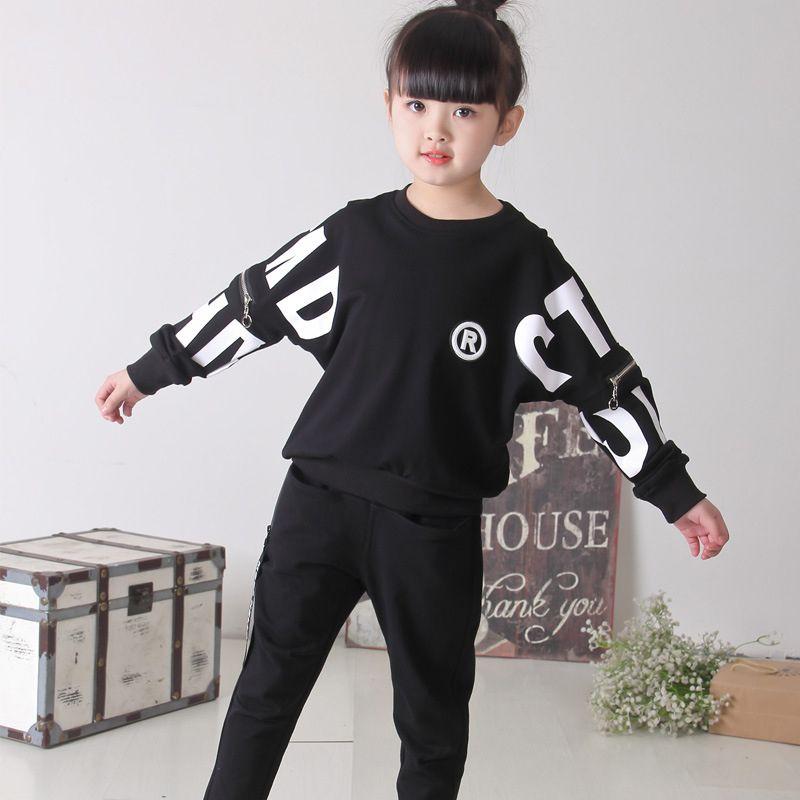 1fb7fb516854 2019 Fashion Spring Autumn New Fashion Baby Girls Clothing Set Kids ...