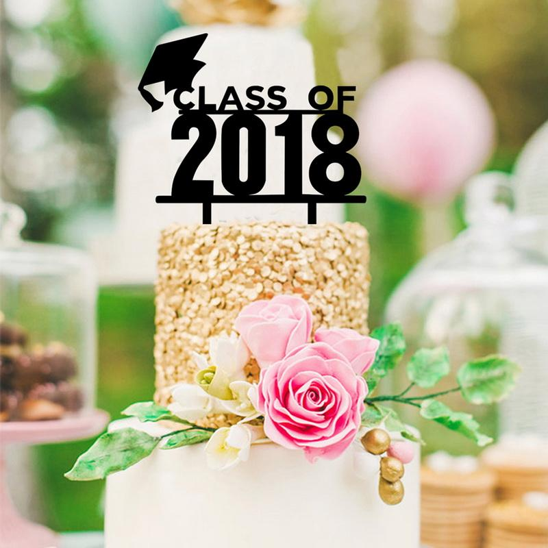 2019 Dozzlor Class Of 2018 Cake Toppers Acrylic 2018 Graduation Cake