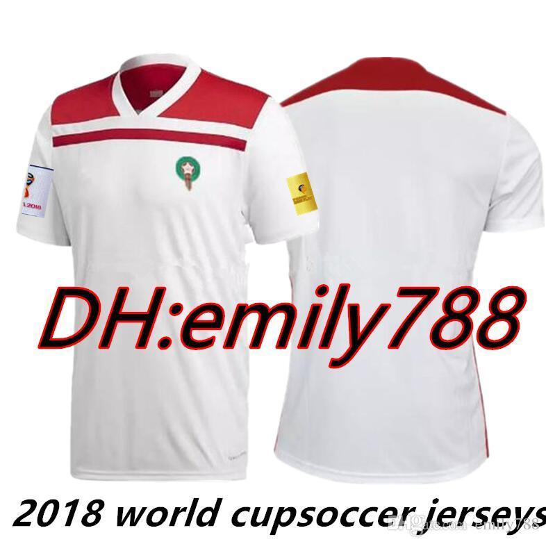 2018 Copa Del Mundo Marruecos Home Away Third Jersey De Fútbol 2018 2019  Morocco Camiseta De Fútbol Soccer Green White Football Camisetas Camiseta  Kit ... c9bca7d45cd5f
