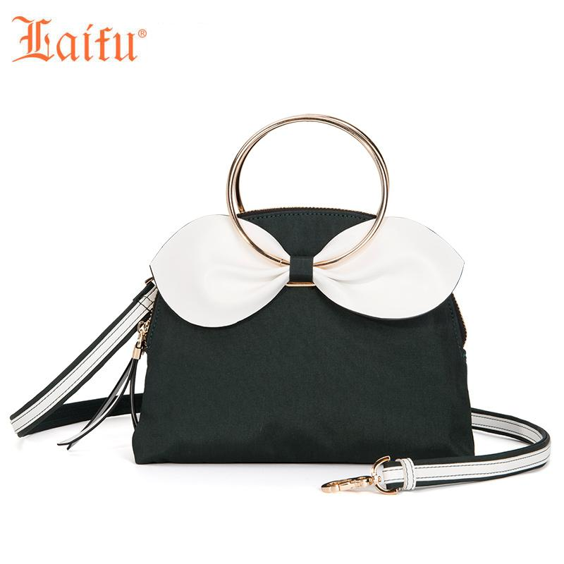 Laifu 2018 New Fashion Women Girls Mini Handbag Crossbody Bag Cute Bowknot  Nylon Lightweight Waterproof Durable 6fa8ca61ca0a5