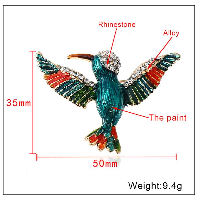 Broche de aleación de Woodpecker de estilo chino Pin de temperamento de alto grado Moda Accesorios de moda de mujer joyería