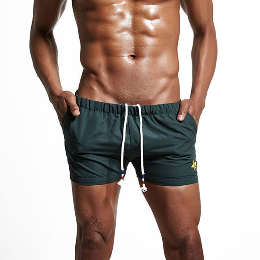 bba7fcf43e 2019 Mens Breathable Swim Trunks Pants Swimwear Shorts Slim Wear Bikini  Swimsuit Shorts For Swimming Bathing Suit Mayo Swim Suit From Weilad, ...