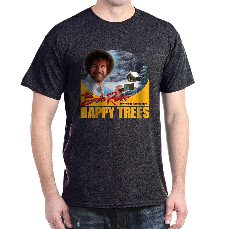 c022b3344 Wholesale Discount Cafepress Bob Ross 100% Cotton T Shirt Design Tee Shirts  T Shirt Funny From Lontimestore, $24.2| DHgate.Com