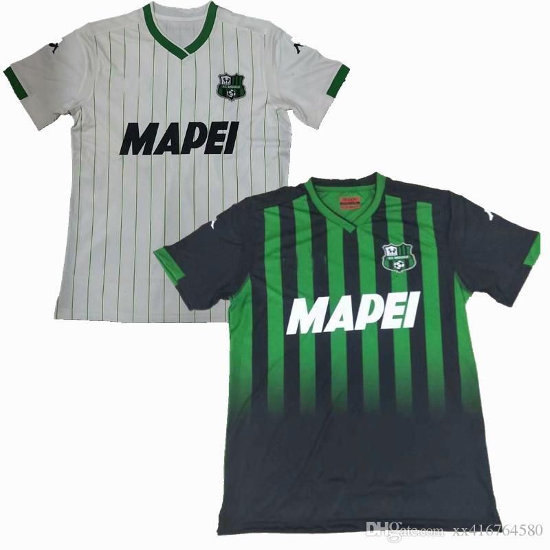 d8a044ff243d1 Compre 2018 2019 EUA Sassuolo Calcio Camisa De Futebol 18 19 Sassuolo  Calcio Casa Longe De Melhor Qualidade Camisas De Futebol De Xx416764580