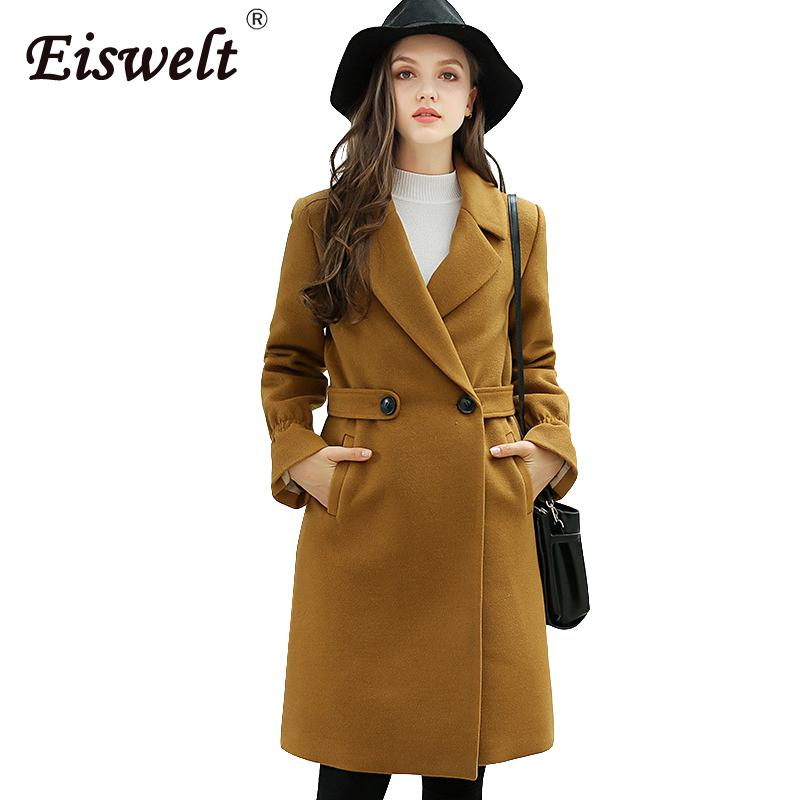 Autumn Coat Women 2018 Long Sleeve Pocket Cape Jacket Women Elegant Trench Coat Medium Long Overcoat Female Winter Outwears