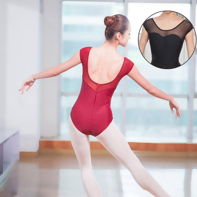 Low Back Gymnastics Leotard Bodysuit Stretch Adult Leotard Mesh ... 6a4469e96