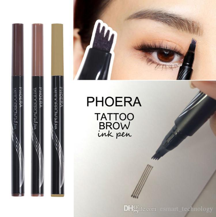 Acheter Hot Phoera Tattoo Brow Ink Pen Crayon A Sourcils Fondation