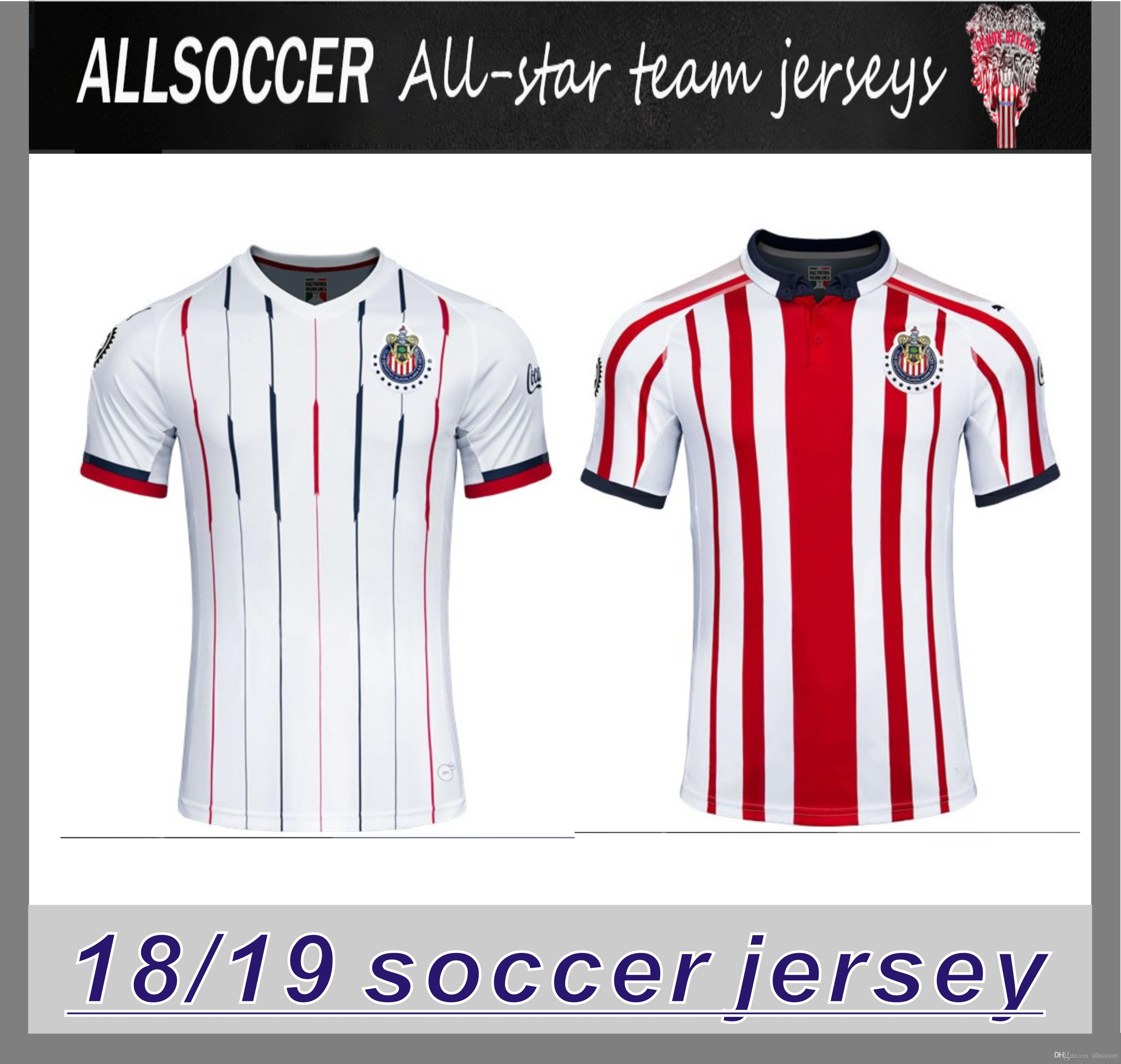 8f45bc0ee Compre 2019 Chivas De Guadalajara Camisa De Futebol Jersey Edição Limitada  18 19 Camisetas De Futebol A. PULIDO Camisas De Futebol De Allsoccer
