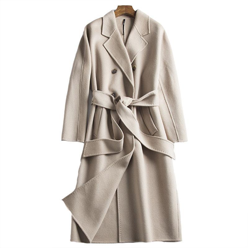 Mantel beige camel