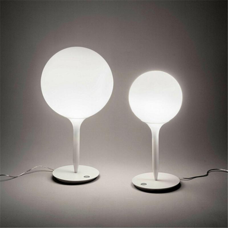 2019 Metal White Glass Ball Table Lamp Designer Modern Office ...