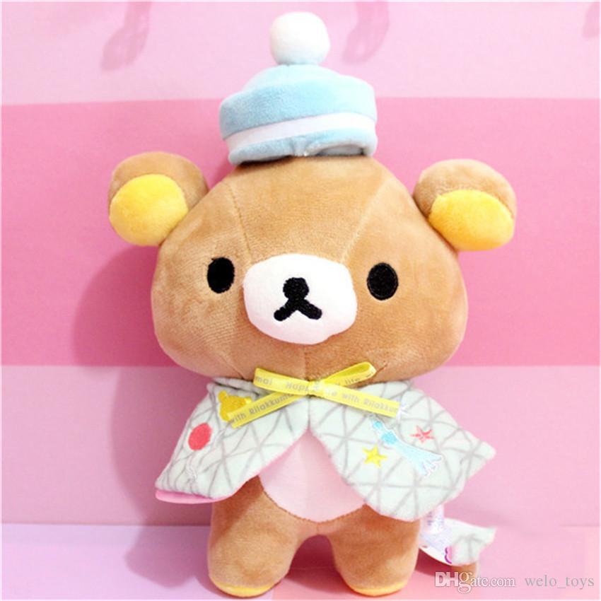 Японский Rilakkuma медведи чучела животных игрушки желтый курица плюшевые мягкие игрушки Kawaii медведь кукла подарки для детей Ребенок