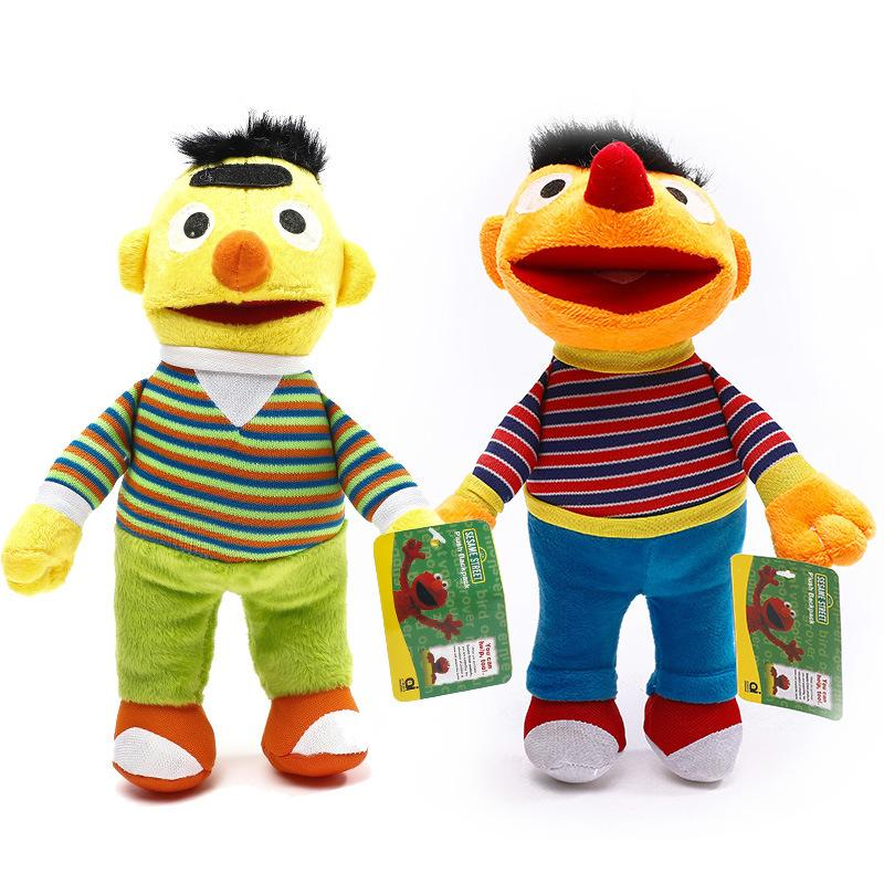 Sesame Street Elmo Plush Toys 28cm Ernie & Bert Plush Toys Doll Soft Stuffed Animals Toys for Children Kids Gift GGA1108