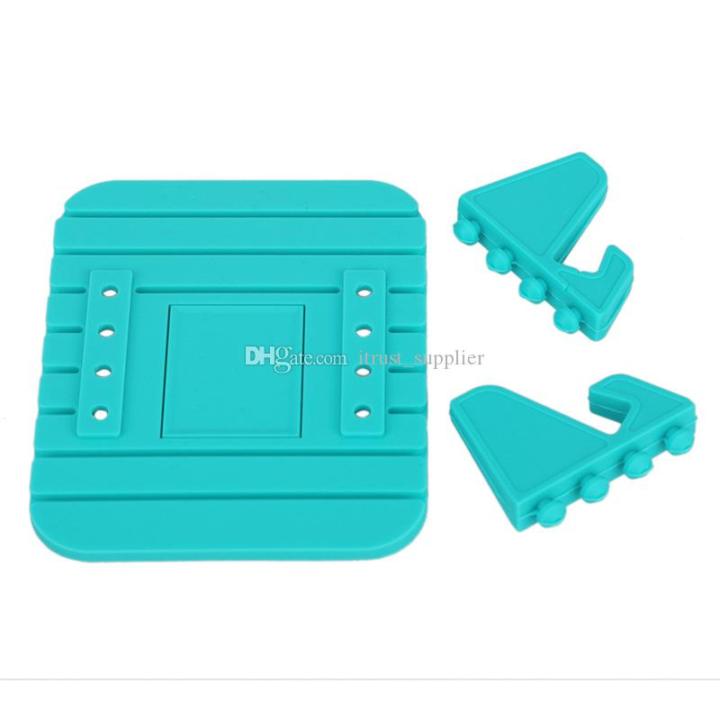 Car Phone Holder Soft Silicone Anti Slip Mat Mobile Phone mount stands Bracket support GPS for iPhone 5 6 7 8 x