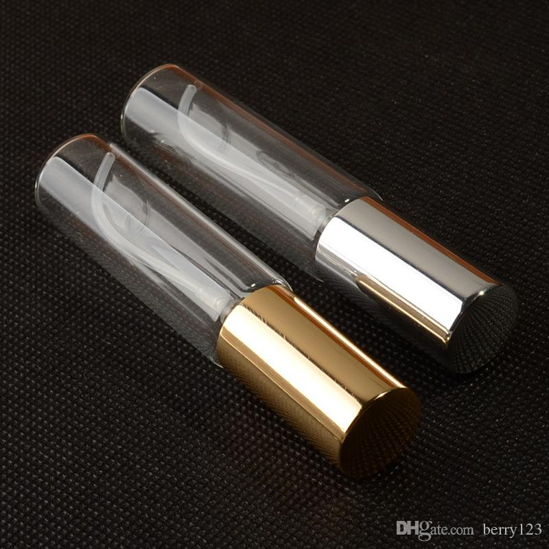10ML 휴대용 화려한 유리 Refillable 향수 병 atomom 함께 여행을위한 분무기와 빈 화장품 용기