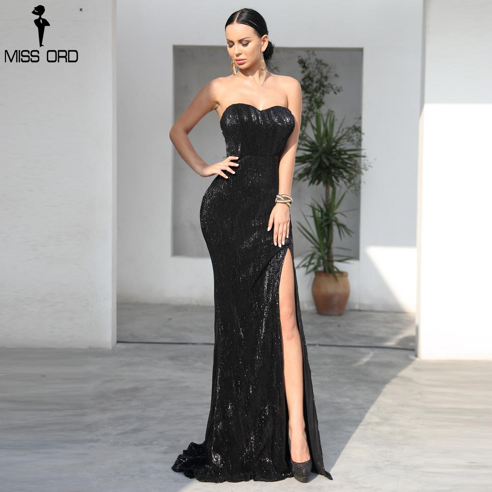 2db2945e5d43 2019 Missord 2018 Black Sexy BRA Off Shoulder Sequin High Split Dresses  Female Backless Dress Maxi Elegant Party Dress FT9188 1 From Missher, ...