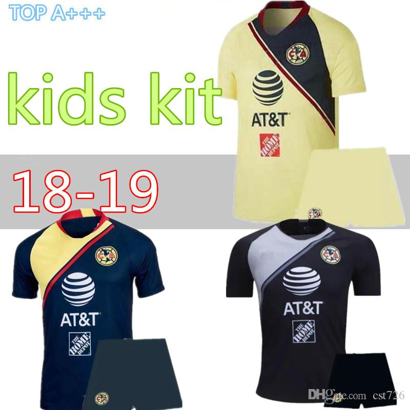 4a4106117 2019 2018 2019 Kids Mexico Club America Soccer Jersey Kit C.BLANCO Home  Away Third D.BENEDETTO R.SAMBUEZA O.PERALTA Boys Kids Soccer Uniforms From  Cst726