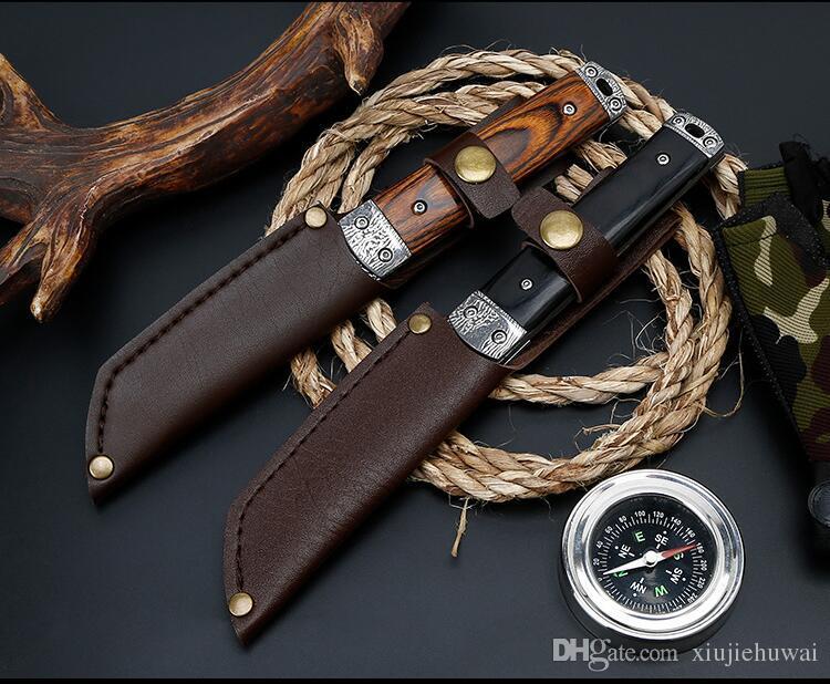 Venado Damasco patrón campamento plegable caza Survival EDC Tactical al aire libre aleta Original cuchillo de herramienta de cocina de diseño