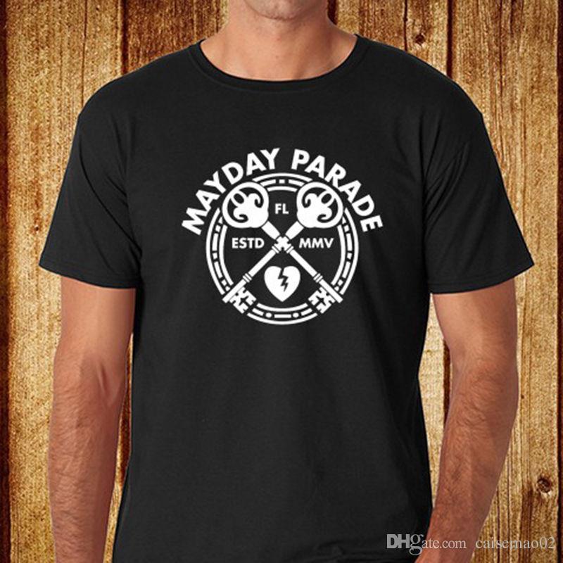 New Mayday Parade Pop Roband Logo Mens Blat Shirt Size S 3xl Tee