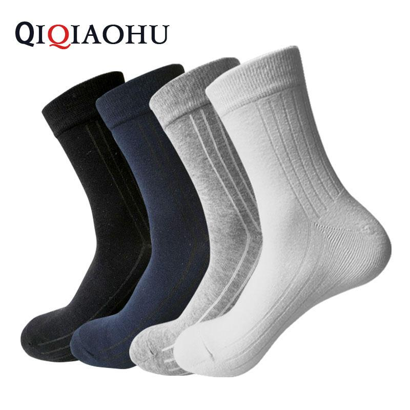 c937c61a 4 pares / set marca antibiosis de iones de plata 100% algodón calcetín  hombres calcetines sin olor sólido vestido boutique calcetines hombre  blanco ...