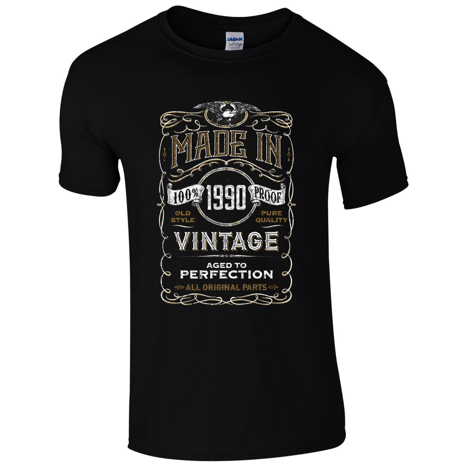 Made In 1990 T Shirt Born 28th Year Birthday Age Present Vintage Funny Mens  Gift Cool Casual Pride Tshirt Men Unisex New Fashion T Shirt T Tee Shirts  Online ... 67554df6c