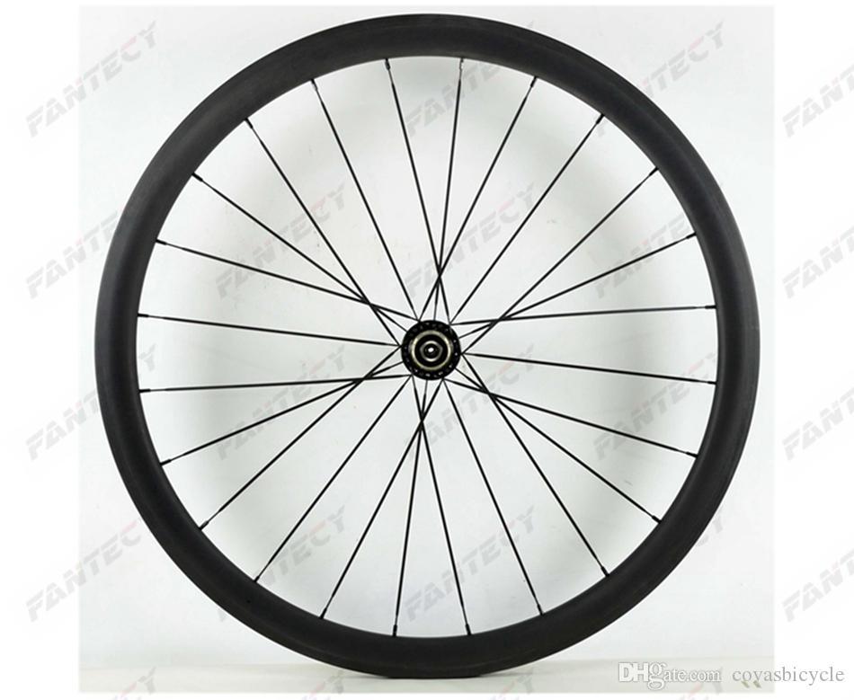 700C 38MM عمق عرض 23MM الفاصلة / أنبوبي الطريق دراجة الكربون العجلات UD ماتي النهاية، U-شكل حافة